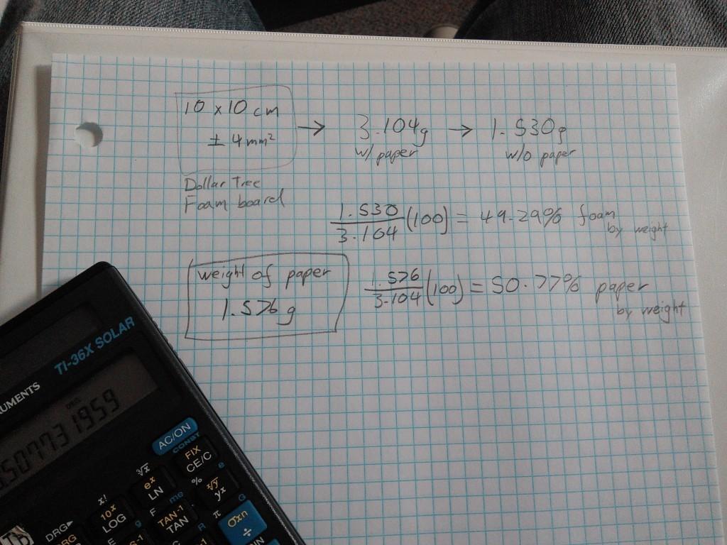 Foam Board - Calculations